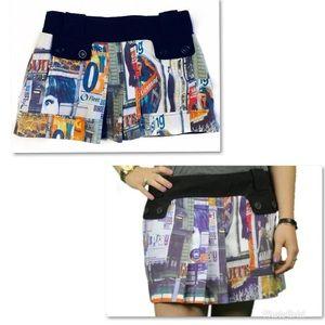 Custo Barcelona Skirts - Custo Barcelona Printed Mini Skirt